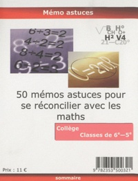 Mots composés - 50 mémos astuces pour se réconcilier avec les maths 6e-5e.
