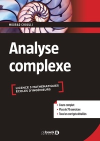 Mourad Choulli - Analyse complexe.