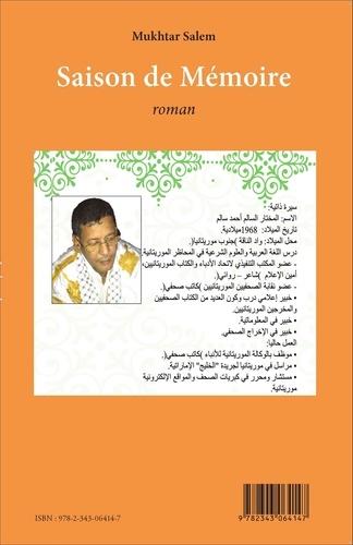 Mukhtar Salem - Saison de mémoire.