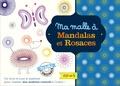 Muriel Douru - Ma malle à mandalas et rosaces - Avec 1 bloc de 48 pages, 3 cadres à rosaces et pochoirs, 1 cadre à pochoirs, 7 roues crantées, 1 stylo à 8 couleurs.