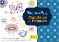 Histoiresdenlire.be Ma malle à mandalas et rosaces - Avec 1 bloc de 48 pages, 3 cadres à rosaces et pochoirs, 1 cadre à pochoirs, 7 roues crantées, 1 stylo à 8 couleurs Image
