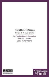 De lobligation dinformation dans les contrats - Essai dune théorie.pdf