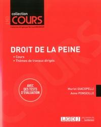 Muriel Giacopelli et Anne Ponseille - Droit de la peine.