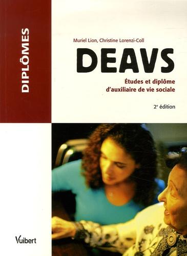 deavs - etudes et dipl u00f4me d u0026 39 auxiliaire de vie    de muriel lion - livre
