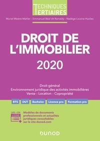 Muriel Mestre-Mahler et Emmanuel Béal dit Rainaldy - Droit de l'immobilier 2020.