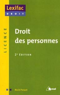 Muriel Parquet - Droit des personnes.