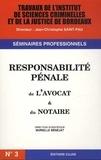 Murielle Bénéjat - Responsabilité pénale de l'avocat & du notaire.
