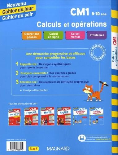 Cahier du jour/Cahier du soir Calculs et opérations CM1  Edition 2020