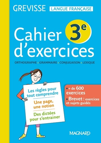 Cahier D Exercices Grevisse 3e Grand Format