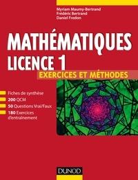 Myriam Maumy-Bertrand et Frédéric Bertrand - Mathématiques Licence 1.