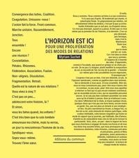 Myriam Suchet - L'horizon est ici - Pour une prolifération des modes de relations.