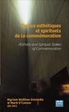 Myriam Watthée-Delmotte et Mark O'Connor - Enjeux esthétiques et spirituels de la commémoration.