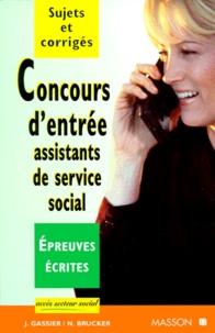 CONCOURS DENTREE ASSISTANTS DE SERVICE SOCIAL. - Epreuves écrites, Sujets et corrigés.pdf