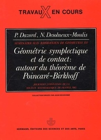 Géométrie symplectique et de contact : autour du théorème de Poincaré-Birkhoff. Journées lyonnaises de la Société Mathématique de France, 1983.pdf