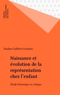 N Galifret-Granjon - Naissance et évolution de la représentation chez l'enfant - Étude historique et critique.