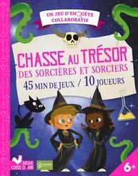 N'joy - Chasse au trésor des sorcières et sorciers - 45 min de jeux / 10 joueurs. Avec un plateau de jeu, des énigmes, des cartes pour inviter les joueurs ou les diplômer et un livret d'explications et de conseils pour les parents.