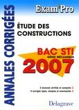 N Peyret et A Chabert - Etude de constructions Bac STI Génie mécanique - Annales corrigées.