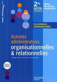Histoiresdenlire.be Activités administratives organisationnelles et relationnelles 2de professionnelle Bac Pro - Comptabilité secrétariat Image