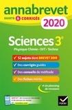 Nadège Jeannin et Sonia Madani - Sciences : Physique-chimie SVT Technologie 3e - Sujets et corrigés.