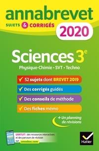 Deedr.fr Sciences : Physique-chimie SVT Technologie 3e - Sujets et corrigés Image