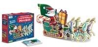 Nadia Fabris - Emboîte et construis le traîneau du Père Noël - Puzzle 3D géant + 1 livre.