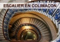 Nadia Le Lay - ESCALIER EN COLIMAÇON (Calendrier mural 2017 DIN A3 horizontal) - Création graphique de tableaux de peinture à l'huile (Calendrier mensuel, 14 Pages ).