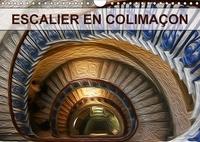 Nadia Le Lay - ESCALIER EN COLIMAÇON (Calendrier mural 2017 DIN A4 horizontal) - Création graphique de tableaux de peinture à l'huile (Calendrier mensuel, 14 Pages ).
