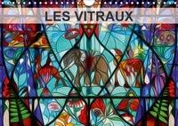 Nadia Le Lay - LES VITRAUX (Calendrier mural 2017 DIN A4 horizontal) - Composition graphique de tableaux en peinture numérique, sur le thème des vitraux. (Calendrier mensuel, 14 Pages ).