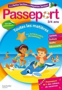 Nadia Poure et Marie-Christine Exbrayat - Passeport - De la Petite à la Moyenne section - Cahier de vacances 2021.