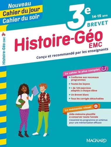 Cahier du jour/Cahier du soir Histoire-Géographie-Education morale et civique 3e + mémento  Edition 2019
