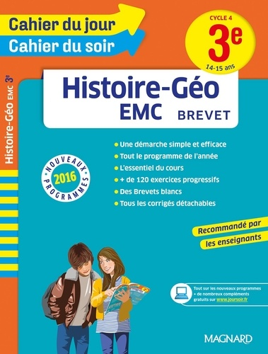 Nadine Daboval - Histoire-Géo EMC Brevet 3e Cycle 4 - 14-15 ans.