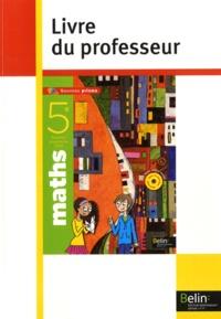 Nadine Jacob et Alain Sitbon - Maths 5e - Livre du professeur.