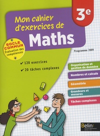Deedr.fr Mon cahier d'exercices de maths 3e Image