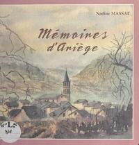 Nadine Massat - Mémoires d'Ariège.