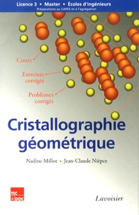 Deedr.fr Cristallographie géométrique - Cours, exercices et problèmes corrigés Image
