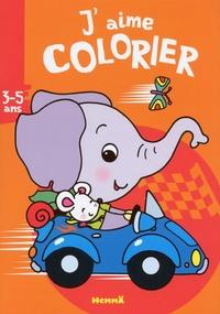 Nadine Piette - J'aime colorier éléphant.