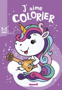 Nadine Piette - J'aime colorier licorne.
