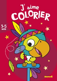 Nadine Piette - J'aime colorier perroquet-indien.