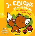 Nadine Piette - Je colorie sans déborder les animaux de la forêt.