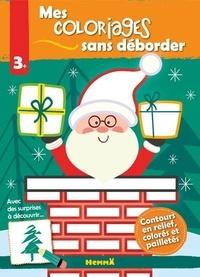 Nadine Piette - Mes coloriages sans déborder Père Noël.