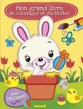 Nadine Piette - Mon grand livre de coloriages et d'activités Pâques - Avec stickers.