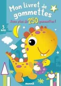 Nadine Piette - Mon livret de gommettes Dinosaure jaune - Avec plus de 250 gommettes !.
