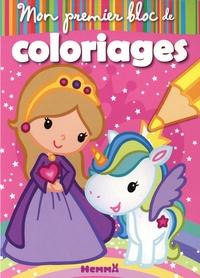 Téléchargements de livres électroniques gratuits pdf Mon premier bloc de coloriages  - Princesse et Licorne par Nadine Piette (French Edition) DJVU RTF
