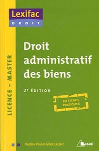 Nadine Poulet-Gibot Leclerc - Droit administratif des biens.