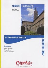"""Nadine Vigouroux et Philippe Gorce - ASSISTH' 2007 - 1ère Conférence internationale sur l'accessibilité et les systèmes de suppléance aux personnes en situations de handicaps """"pour une meilleur insertion dans la société""""."""