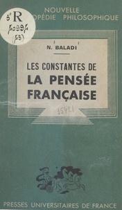 Naguib Baladi et Emile Bréhier - Les constantes de la pensée française.