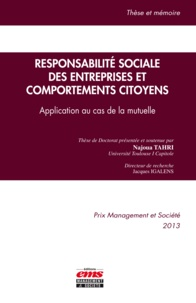 Najoua Tahri - Responsabilité sociale des entreprises et comportements citoyens - Application au cas de la mutuelle.