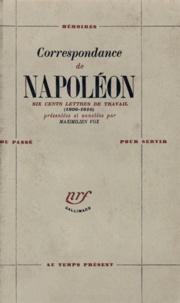 Napoléon - Correspondance de Napoléon - 600 lettres de travail (1806-1810).