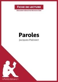 Natacha Cerf - Paroles de Jacques Prévert - Fiche de lecture.
