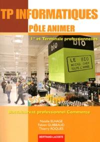 Natalie Elhage et Fabien Guibbaud - TP informatiques pôle animer 1e et Tle Baccalauréat professionnel Commerce.